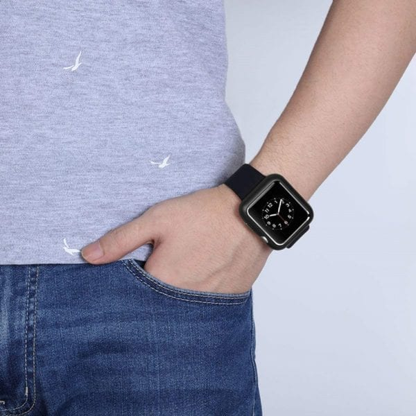 38mm beschermende Magnetisch Case Cover Protector Apple watch 2 - 3 zwart_1007