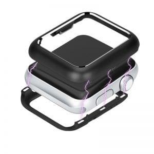 38mm beschermende Magnetisch Case Cover Protector Apple watch 2 / 3 zwart