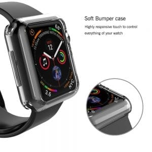 40mm beschermende bumber Protector Apple watch 4 transparant_1005