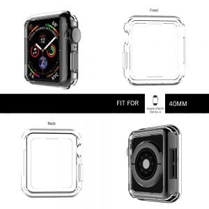 40mm beschermende bumber Protector Apple watch 4 transparant_1006