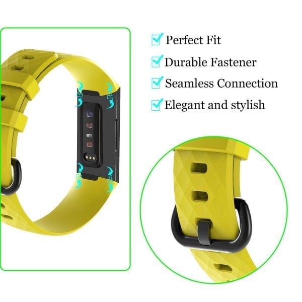 Bandje geschikt voor Fitbit Charge 3 SMALL – geel_004