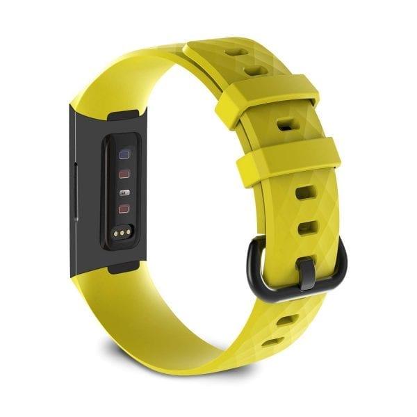Bandje geschikt voor Fitbit Charge 3 SMALL – geel_005