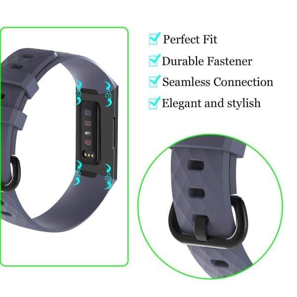 Bandje geschikt voor Fitbit Charge 3 SMALL – grijs_007