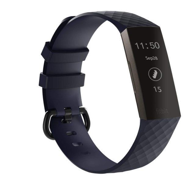 Bandje geschikt voor Fitbit Charge 3 SMALL – marine blue_002