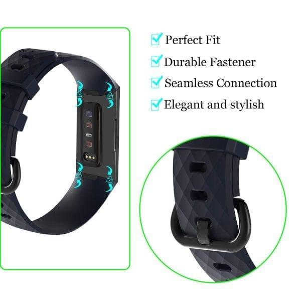 Bandje geschikt voor Fitbit Charge 3 SMALL – marine blue_006