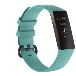 Bandje geschikt voor Fitbit Charge 3 SMALL – mint groen