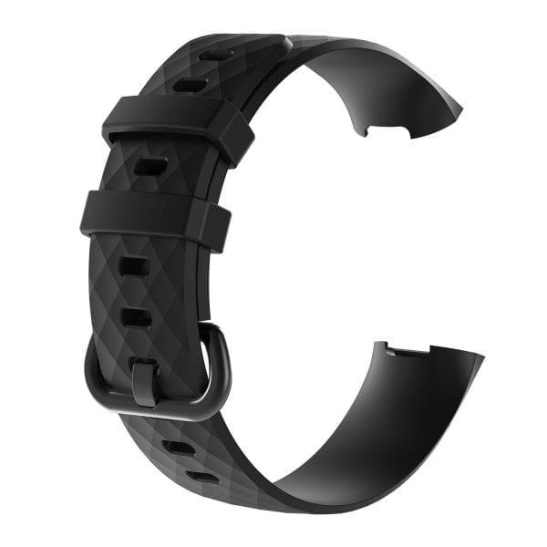 Bandje geschikt voor Fitbit Charge 3 SMALL – rock blue
