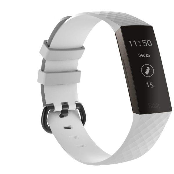 Bandje geschikt voor Fitbit Charge 3 SMALL – wit_002