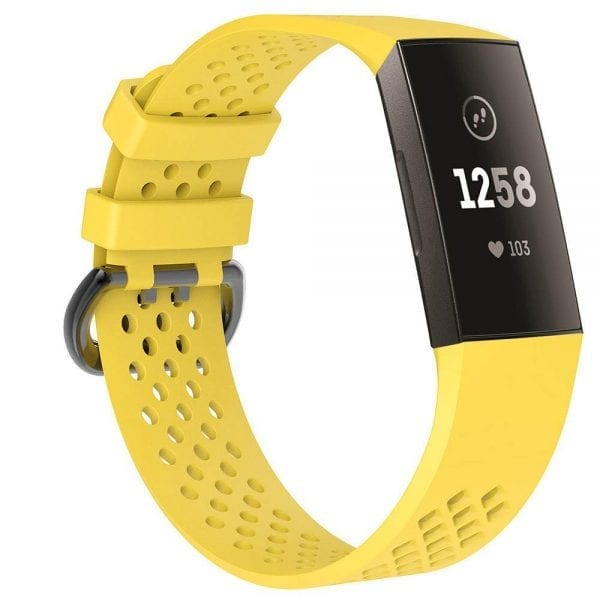 Fitbit Charge 3 bandje sport SMALL – geel_1002