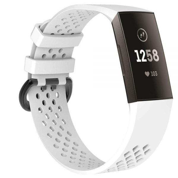 Fitbit Charge 3 bandje sport SMALL – wit