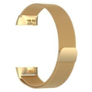 RVS goud kleurig metalen milanese loop bandje armband voor de Fitbit Charge 3_006