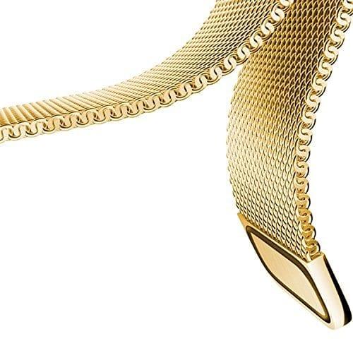 Samsung Gear Sport 20mm bandje Samsung Galaxy 42mm bandje SM-R810 Milanese Loop goud_005