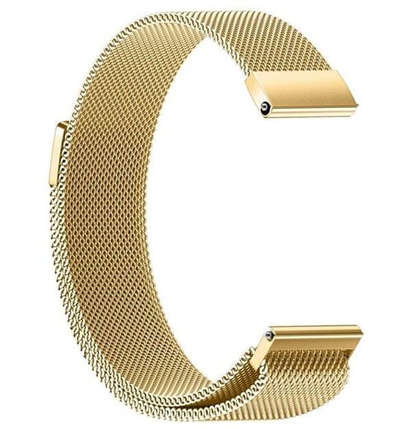 Samsung Gear Sport 20mm bandje Samsung Galaxy 42mm bandje SM-R810 Milanese Loop goud_009