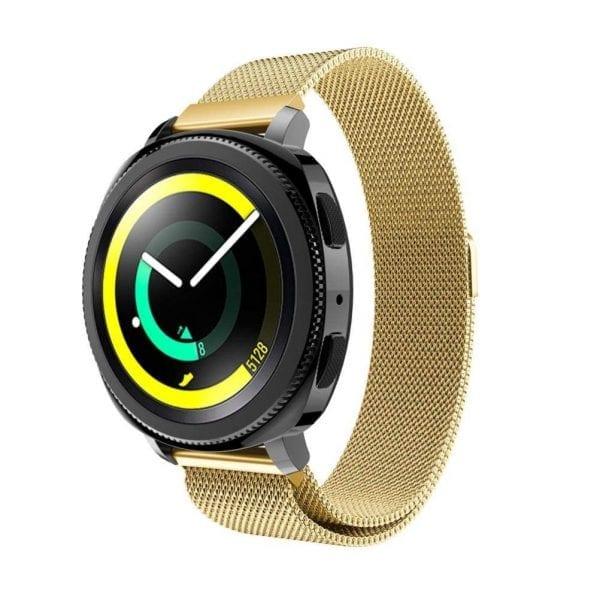 Samsung Gear Sport 20mm bandje Samsung Galaxy 42mm bandje SM-R810 Milanese Loop goud_010