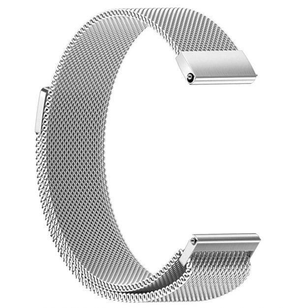 Samsung Gear Sport 20mm bandje Samsung Galaxy 42mm bandje SM-R810 Milanese Loop zilver_010