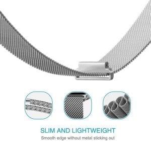 Samsung Gear Sport 20mm bandje Samsung Galaxy 42mm bandje SM-R810 Milanese Loop zilver_012