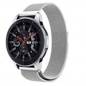 Samsung Gear Sport 20mm bandje Samsung Galaxy 42mm bandje SM-R810 Milanese Loop zilver_014