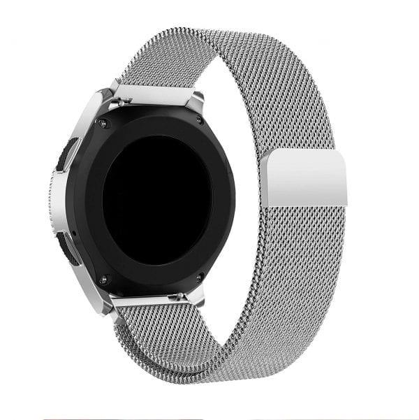 Samsung Gear Sport 20mm bandje Samsung Galaxy 42mm bandje SM-R810 Milanese Loop zilver_015