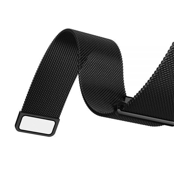 Samsung Gear Sport 20mm bandje Samsung Galaxy 42mm bandje SM-R810 Milanese Loop zwart