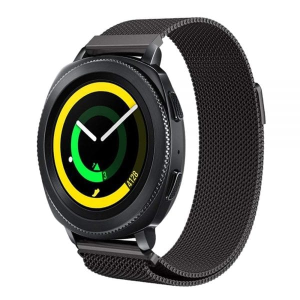 Samsung Gear Sport 20mm bandje Samsung Galaxy 42mm bandje SM-R810 Milanese Loop zwart_017