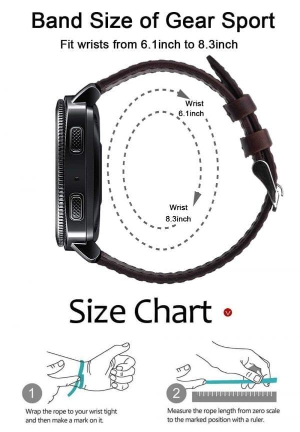 Samsung Gear Sport 20mm bandje Samsung Galaxy 42mm bandje SM-R810 Retro donkerbruin_014