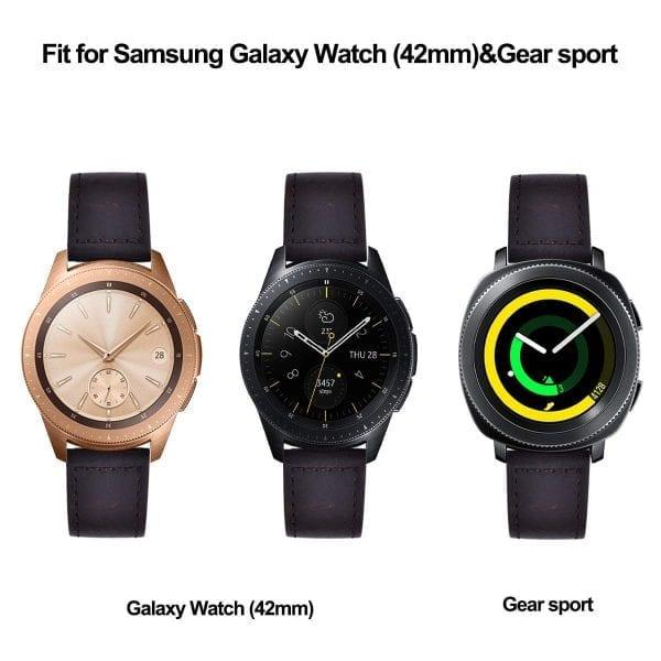 Samsung Gear Sport 20mm bandje Samsung Galaxy 42mm bandje SM-R810 Retro donkerbruin_015