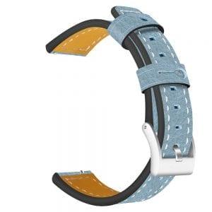 Samsung Gear Sport 20mm bandje Samsung Galaxy 42mm bandje SM-R810 leer blauw_002