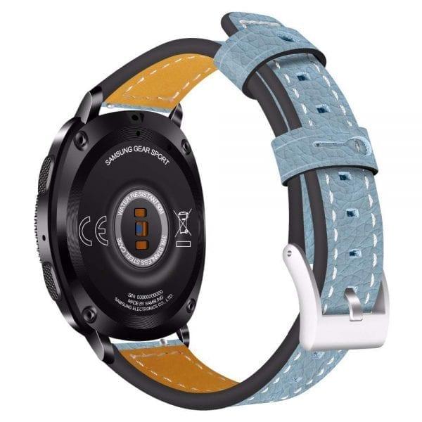 Samsung Gear Sport 20mm bandje Samsung Galaxy 42mm bandje SM-R810 leer blauw_003