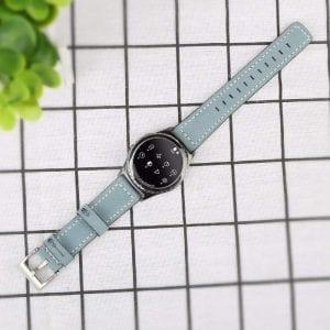 Samsung Gear Sport 20mm bandje Samsung Galaxy 42mm bandje SM-R810 leer blauw_004