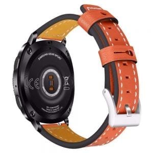 Samsung Gear Sport 20mm bandje Samsung Galaxy 42mm bandje SM-R810 leer oranje_001