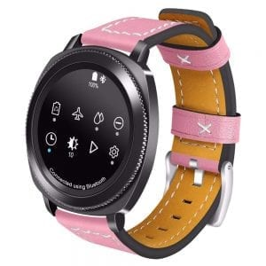 Samsung Gear Sport 20mm bandje Samsung Galaxy 42mm bandje SM-R810 leer roze_003