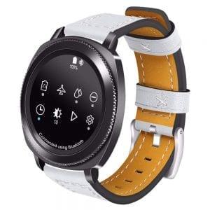 Samsung Gear Sport 20mm bandje Samsung Galaxy 42mm bandje SM-R810 leer wit_002