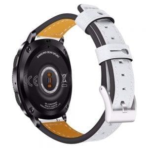 Samsung Gear Sport 20mm bandje Samsung Galaxy 42mm bandje SM-R810 leer wit_003
