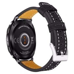 Samsung Gear Sport 20mm bandje Samsung Galaxy 42mm bandje SM-R810 leer zwart_002