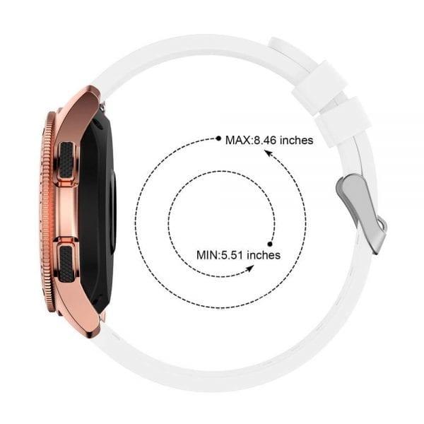 Samsung Gear Sport bandje 20mm Samsung Galaxy bandje 42mm siliconen Wit_011
