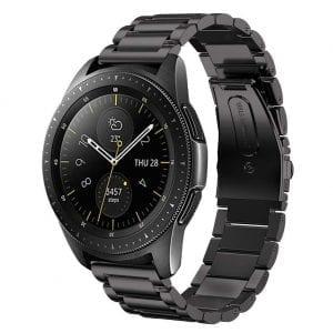 Samsung Gear Sport bandje Galaxy Watch 42mm SM-R810 Galaxy Watch 42mm SM-R810 RVS Zwart Metaal_003