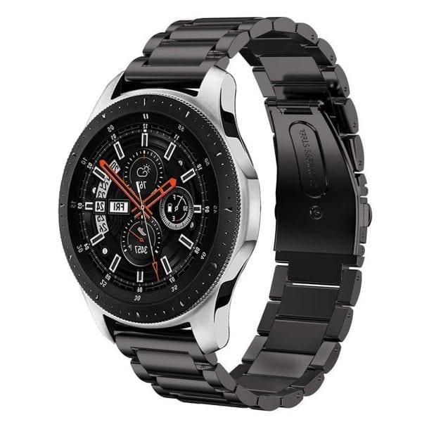 Samsung Gear Sport bandje Galaxy Watch 42mm SM-R810 Galaxy Watch 42mm SM-R810 RVS Zwart Metaal_004