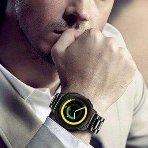 Samsung Gear Sport bandje Galaxy Watch 42mm SM-R810 Galaxy Watch 42mm SM-R810 RVS Zwart Metaal_007