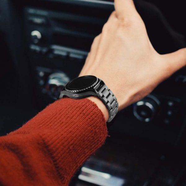 Samsung Gear Sport bandje Galaxy Watch 42mm SM-R810 Galaxy Watch 42mm SM-R810 RVS Zwart Metaal_010
