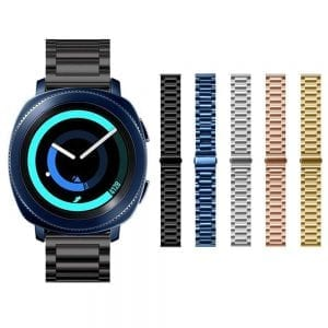 Samsung Gear Sport bandje Galaxy Watch 42mm SM-R810 Galaxy Watch 42mm SM-R810 RVS Zwart Metaal_011