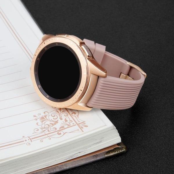 Samsung Gear Sport bandje Galaxy Watch 42mm SM-R810 Galaxy Watch 42mm SM-R810 silicone rose goud small_009