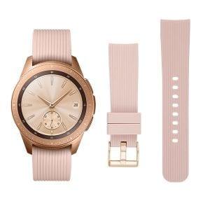 Samsung Gear Sport bandje Galaxy Watch 42mm SM-R810 Galaxy Watch 42mm SM-R810 silicone rose goud small_010