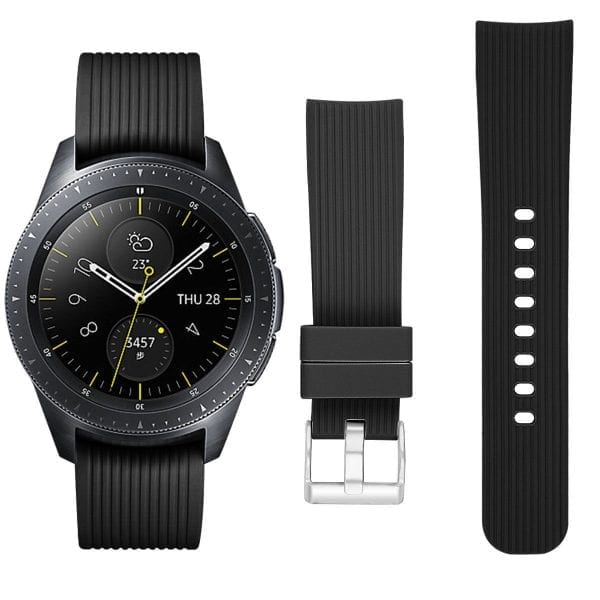 Samsung Gear Sport bandje Galaxy Watch 42mm SM-R810 Galaxy Watch 42mm SM-R810 silicone zwart small_007