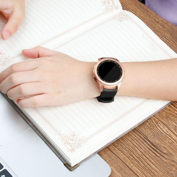 Samsung Gear Sport bandje Galaxy Watch 42mm SM-R810 Galaxy Watch 42mm SM-R810 silicone zwart small_008