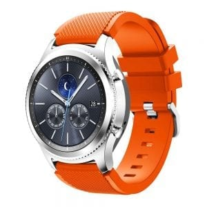 Bandje Voor de Samsung Gear S3 Classic / Frontier - Siliconen Armband / Polsband / Strap Band / Sportband Royal Oranje
