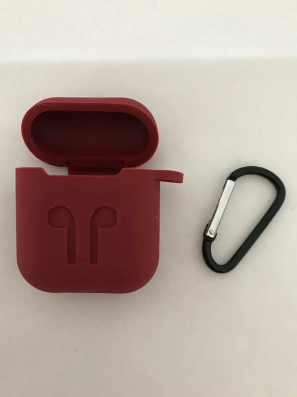 Case-Cover-Voor-Apple-Airpods---Siliconen-donkerrood