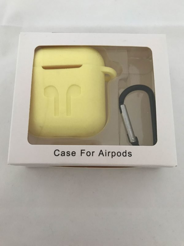 Case-Cover-Voor-Apple-Airpods---Siliconen-geel