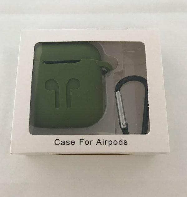 Case Cover Voor Apple Airpods - Siliconen legergroen
