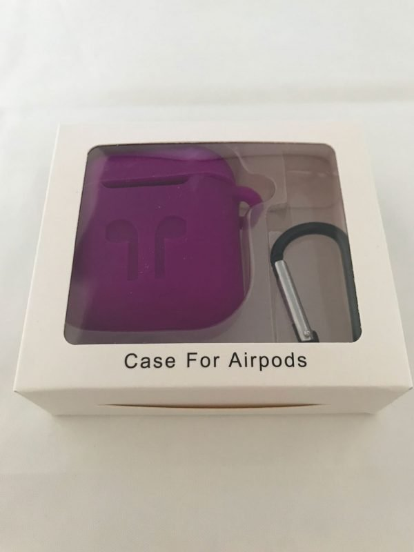 Case-Cover-Voor-Apple-Airpods---Siliconen-paars