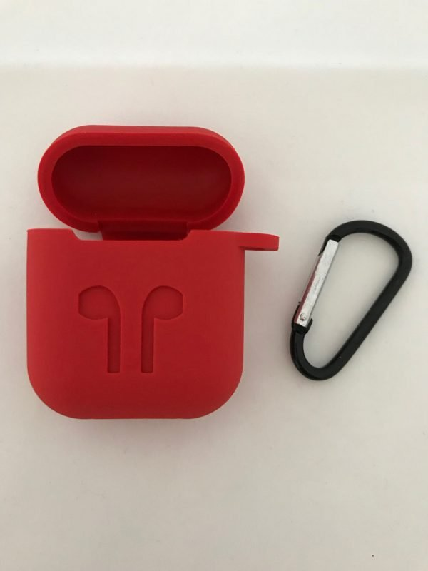 Case-Cover-Voor-Apple-Airpods---Siliconen-rood-